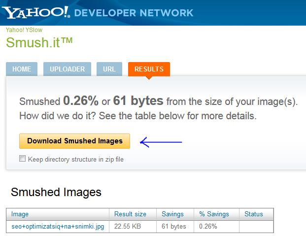 Download Smushed Images